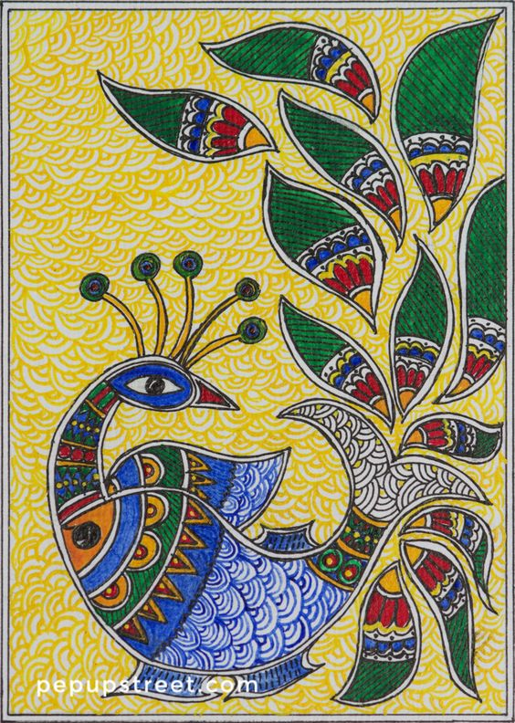 Easy Craft For Children Madhubani Art Journal Muse